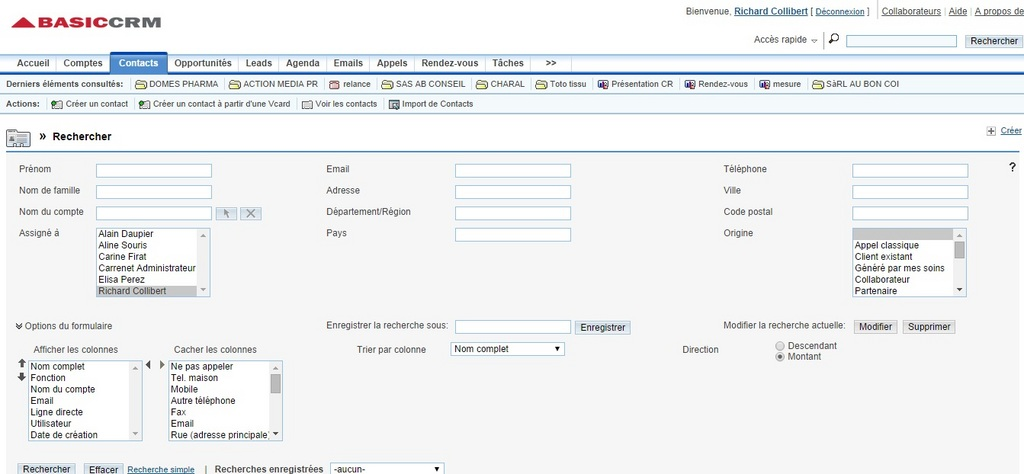 BasicCRM: Call Handling incoming & outgoing, Process Sales and pipeline Maximum Users