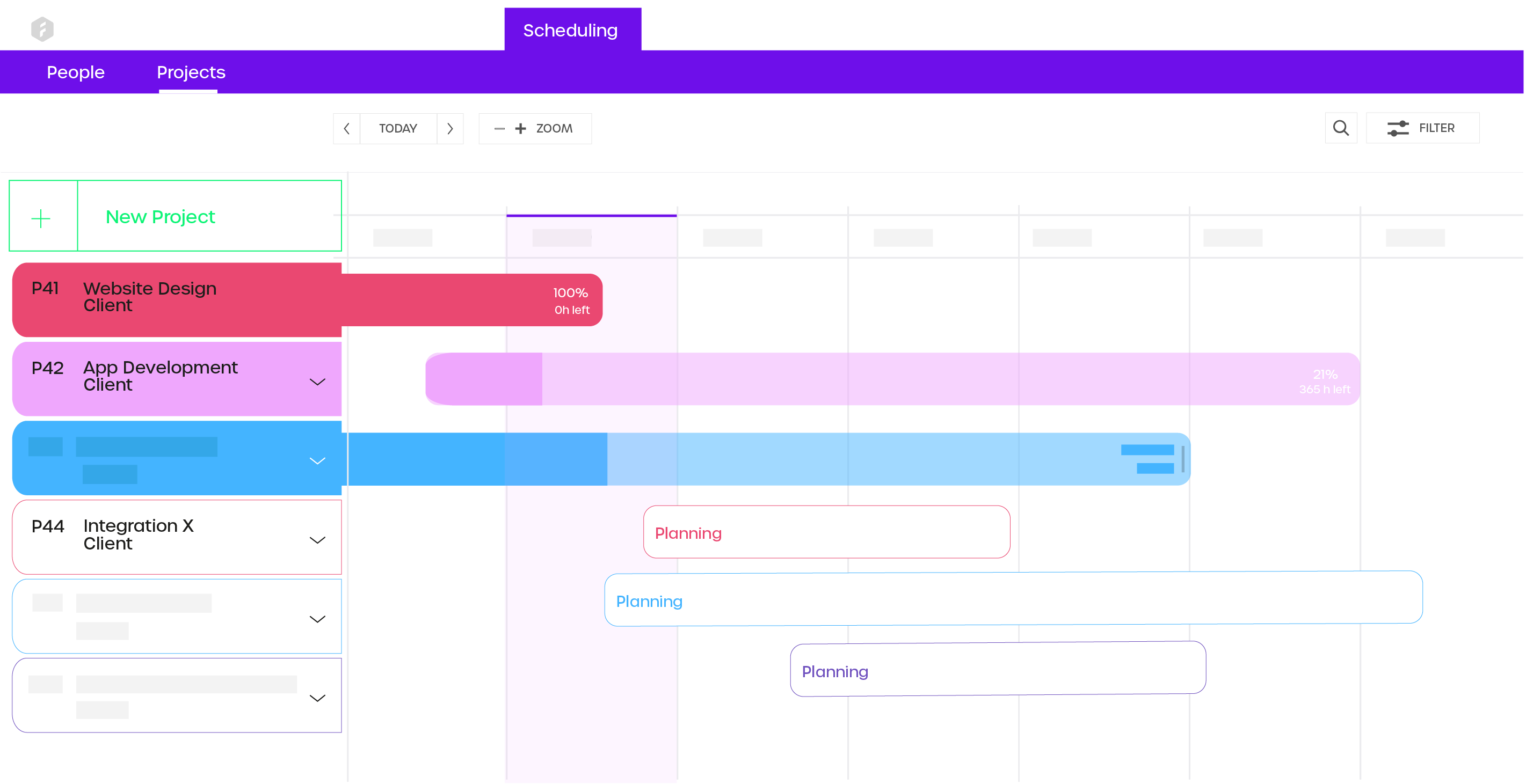 Visually plan future projects and see how they affect your project portfolio. Monitor running projects and track the progress in real-time.
