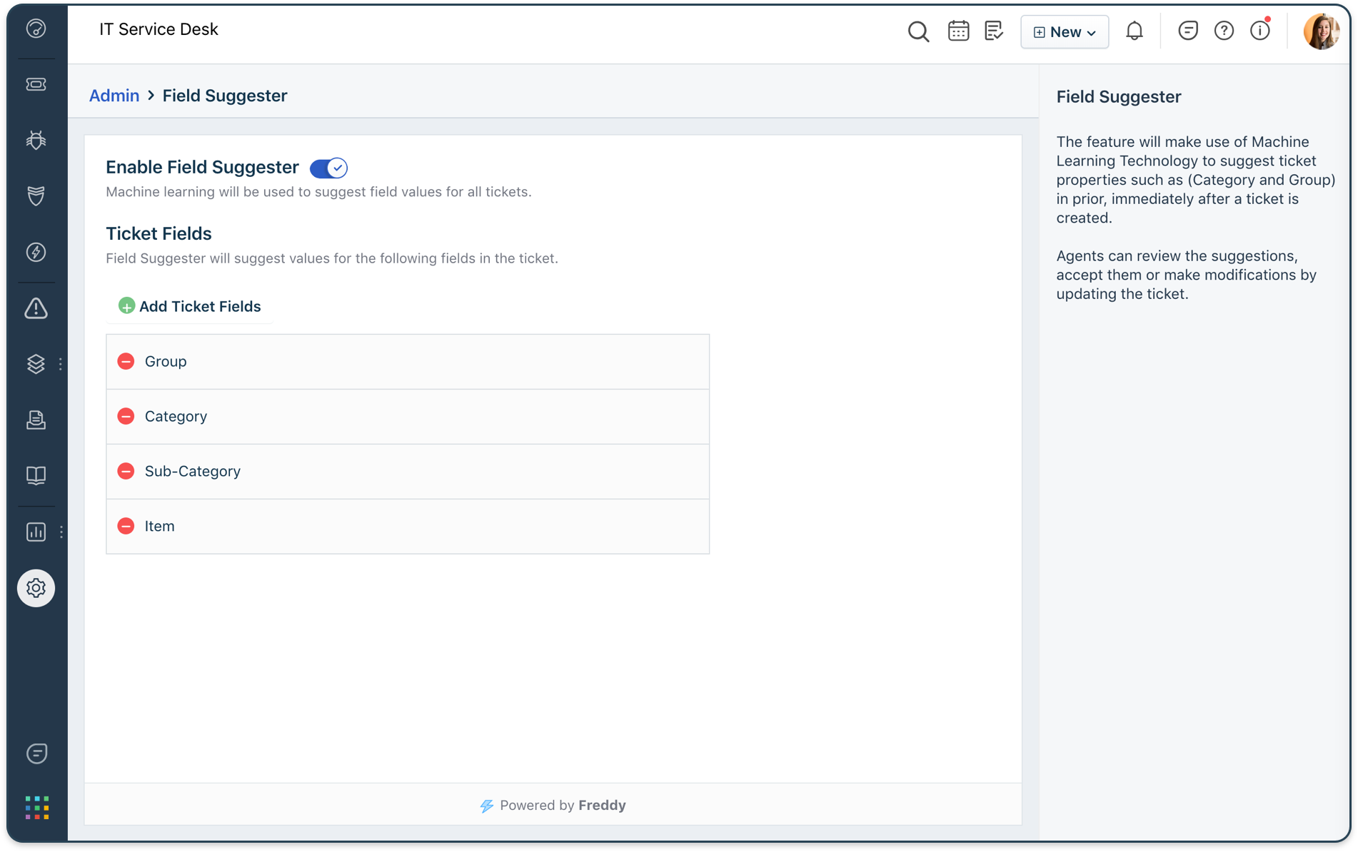 Improve agent productivity by triaging incoming tickets and providing ML-powered suggestions and responses,