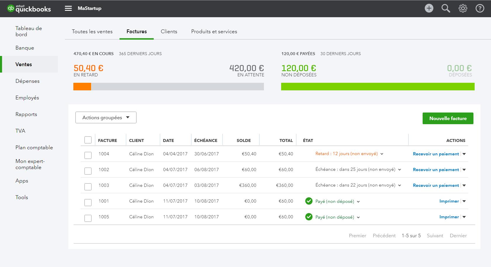 QuickBooks: Customer Invoice Management