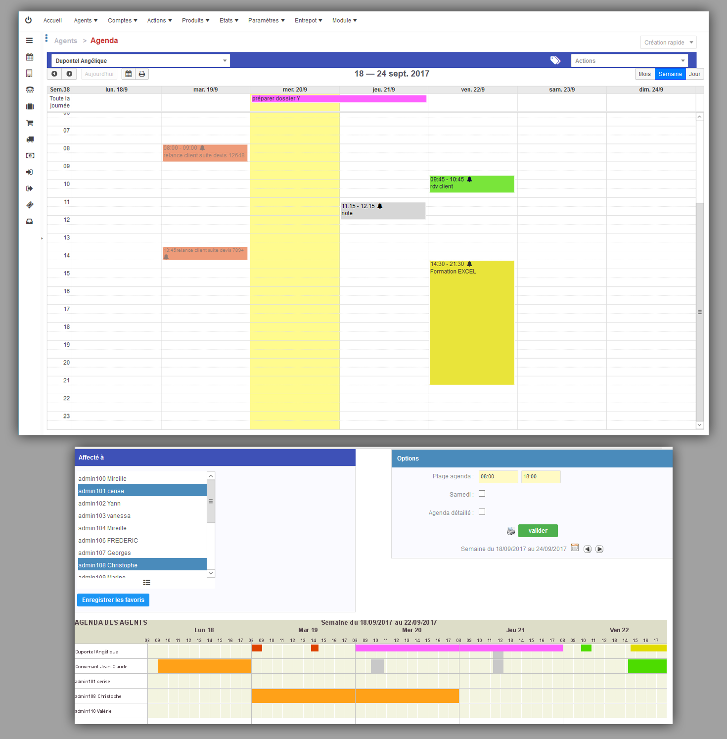 scheduling and shared calendars in drag / drop. Quickly create, recurring events, Google Sync. Rights Management (visible, change, delete)