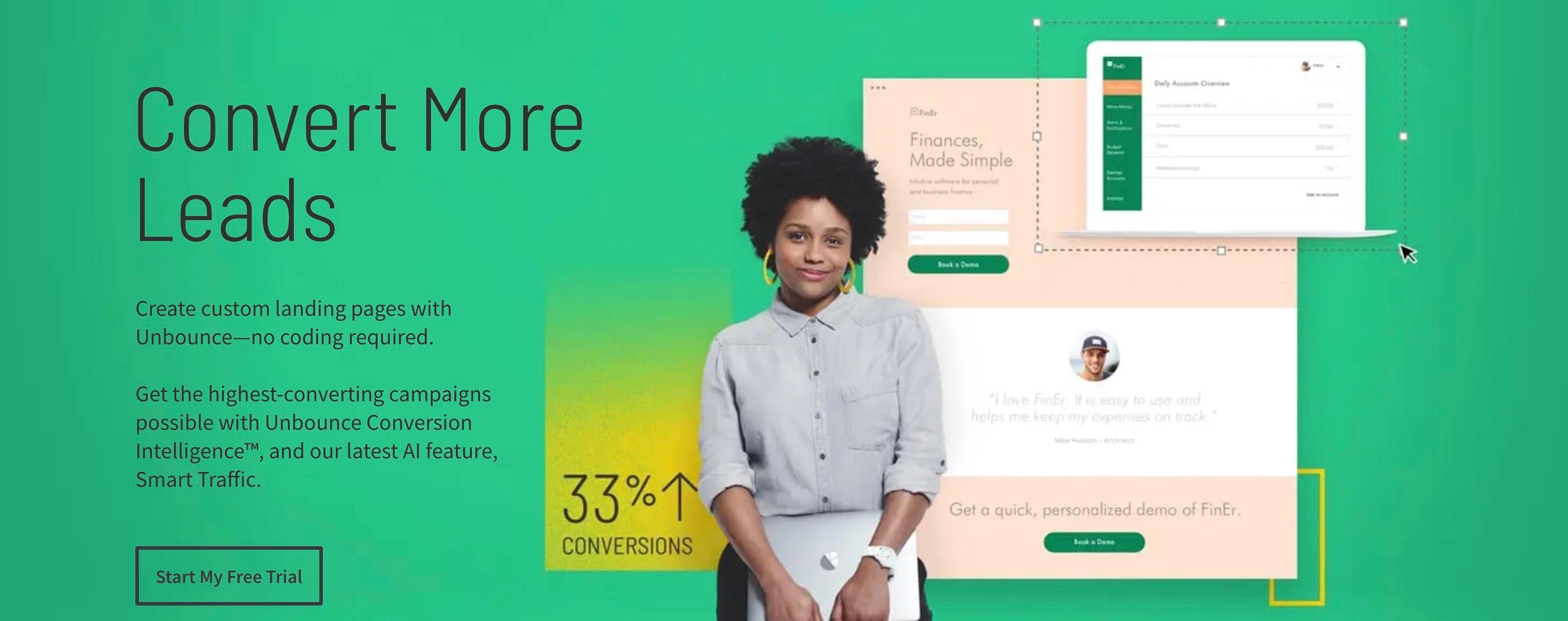 Review Unbounce: Build Beautiful and Efficient Landing Pages - appvizer