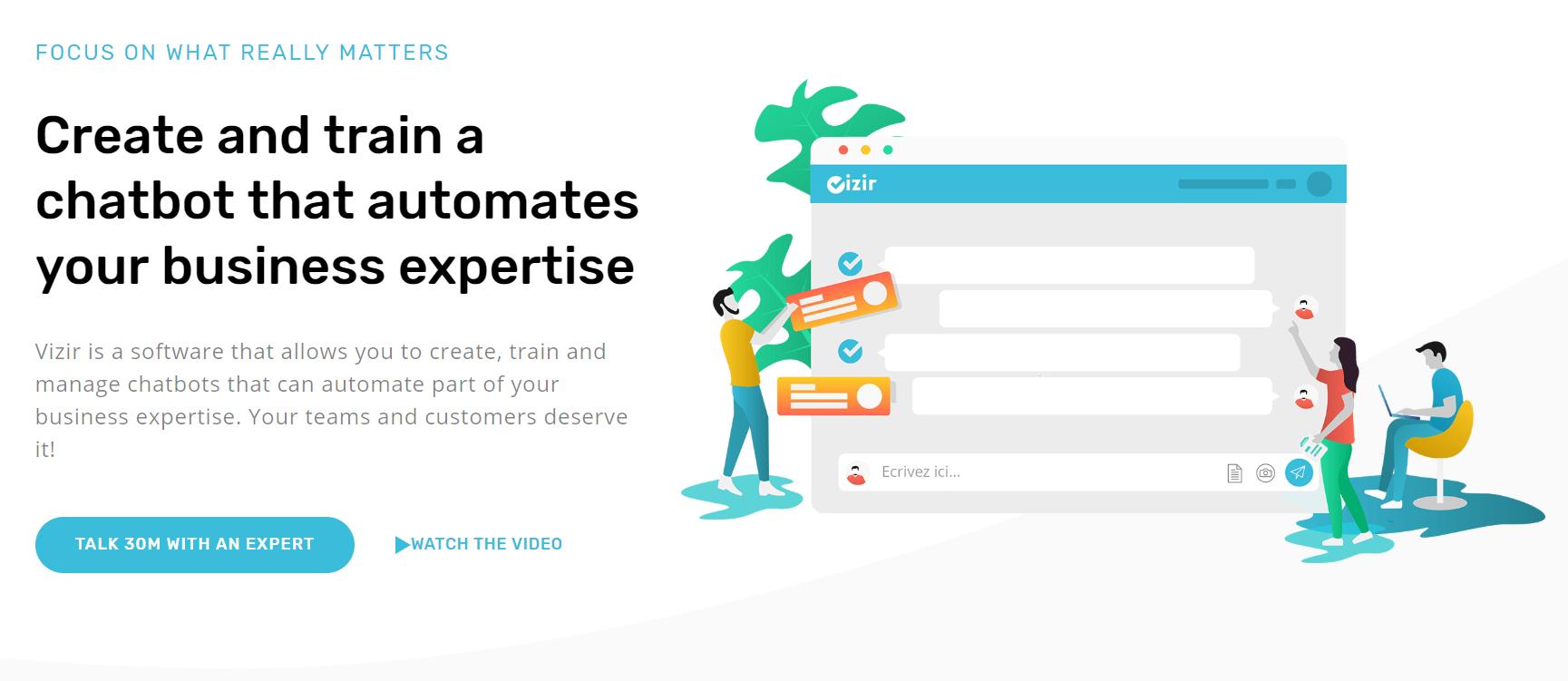 Review Vizir: Chatbot builder for enterprise automation - appvizer