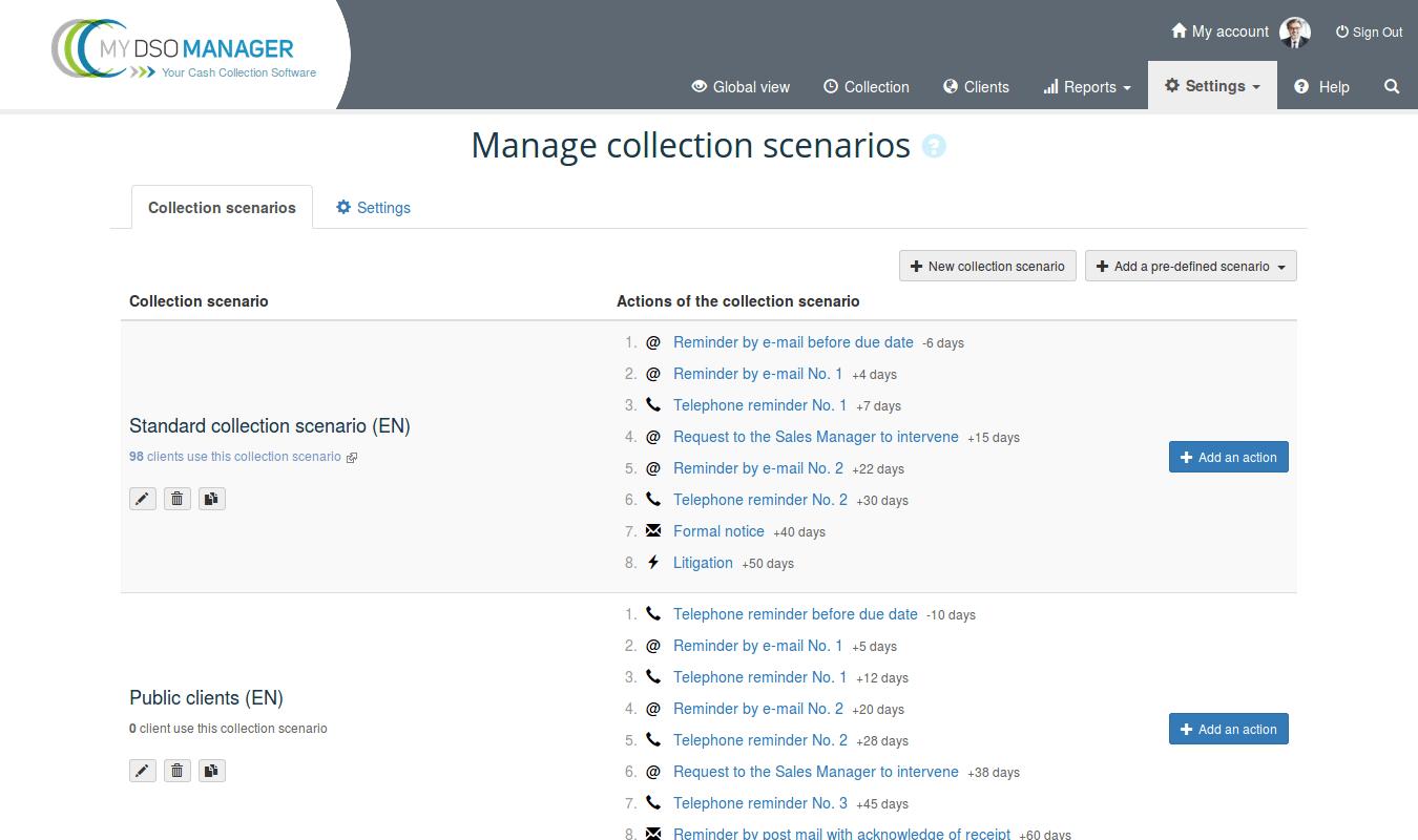 Create your own collection scenarios