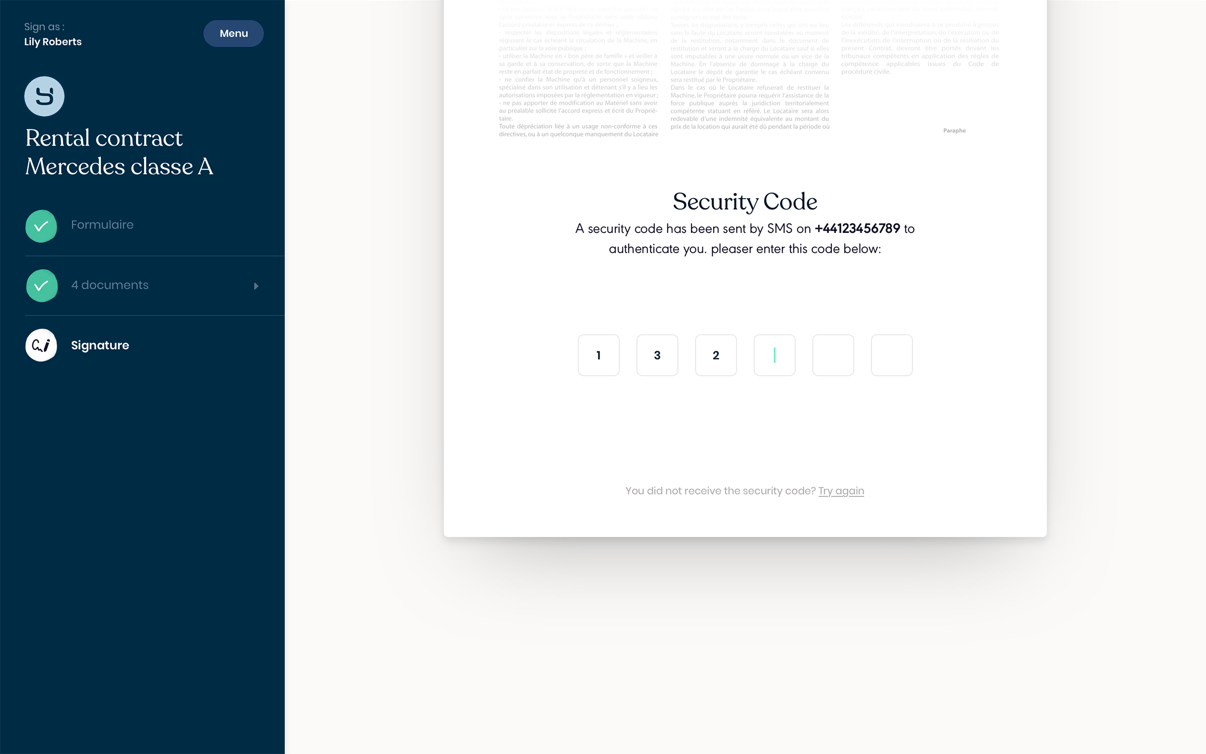 Yousign-Security code