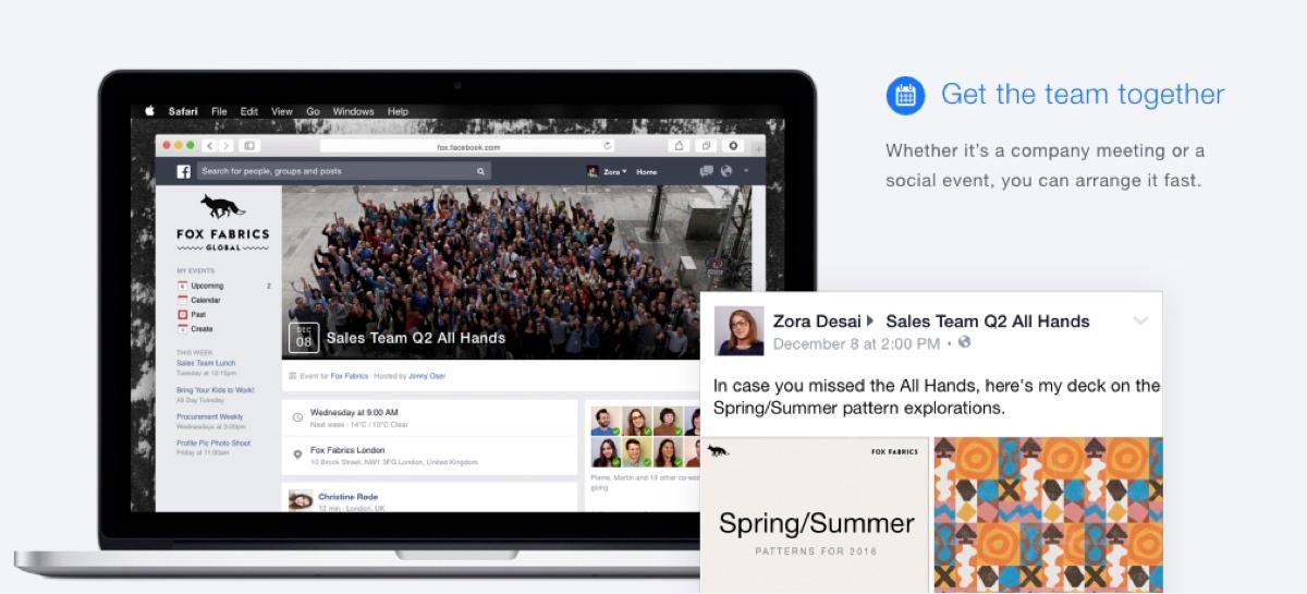 Facebook at Work: Create groups