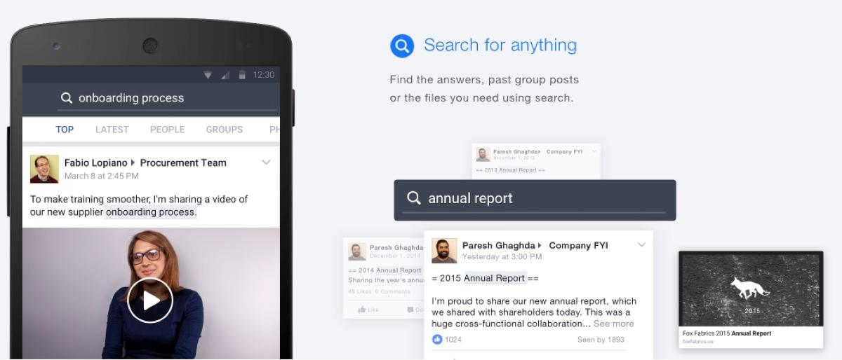 Facebook at Work: Search