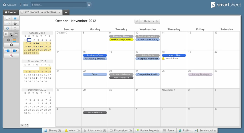 Smartsheet: Mobile Application, Gantt, API, Web service