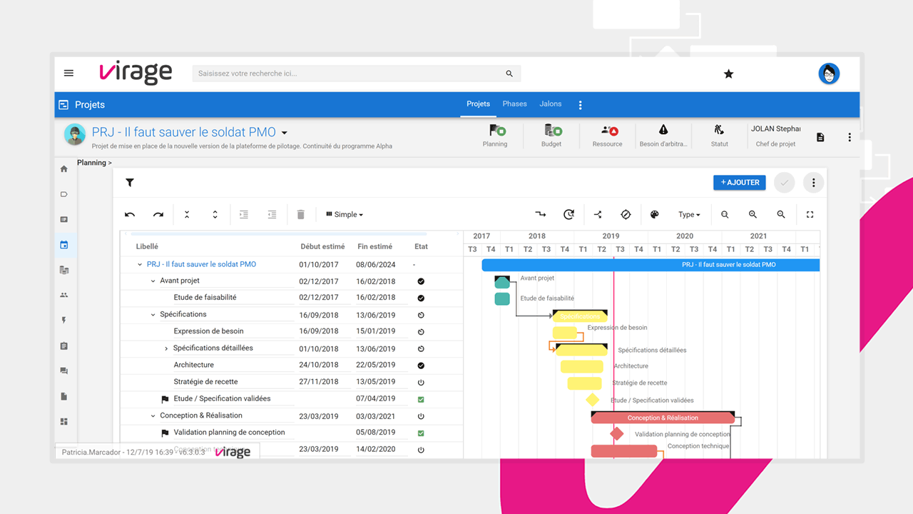 Project Monitor-Plannning-Gantt