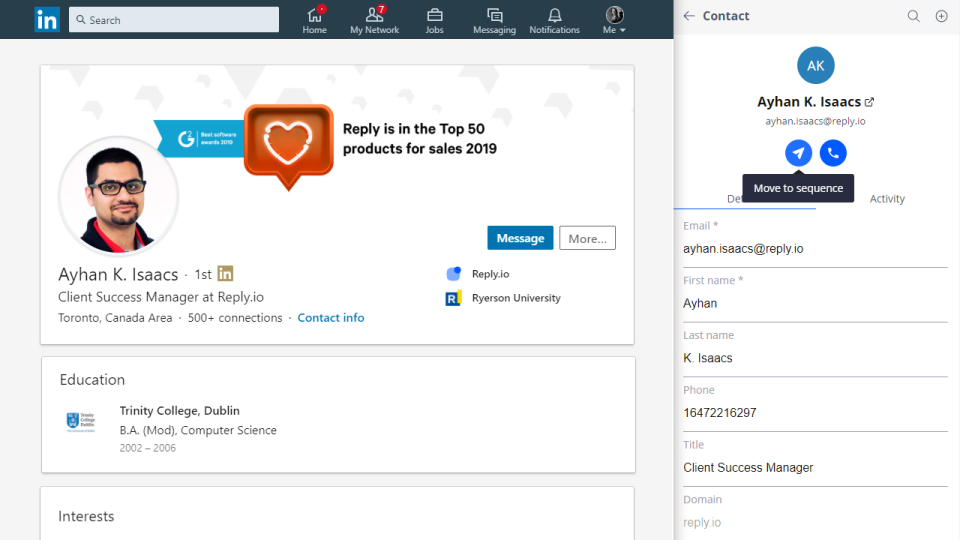 Reply-Reply LinkedIn Chrome Extension
