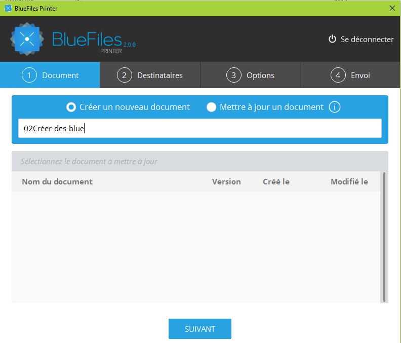 Printing size BlueFiles