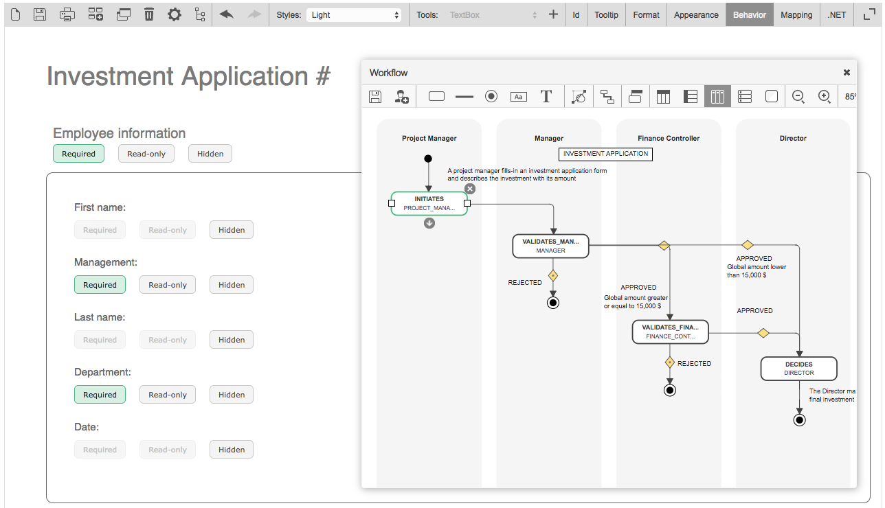 Interactive Workflow view