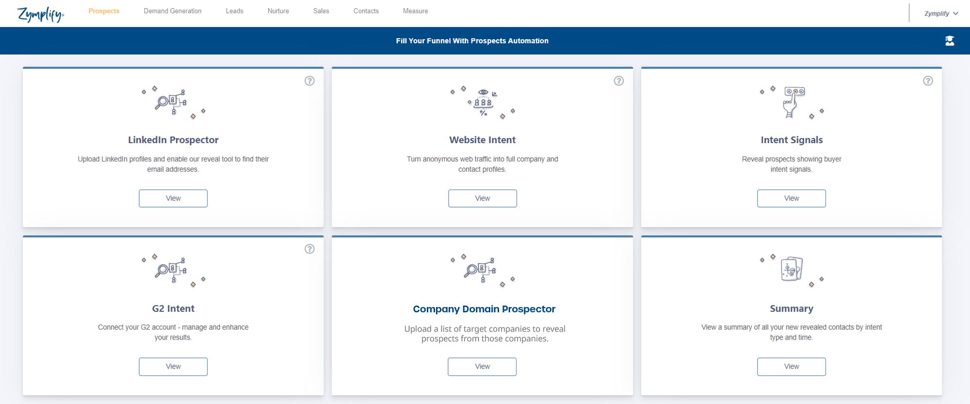 Zymplify-Prospect-tools