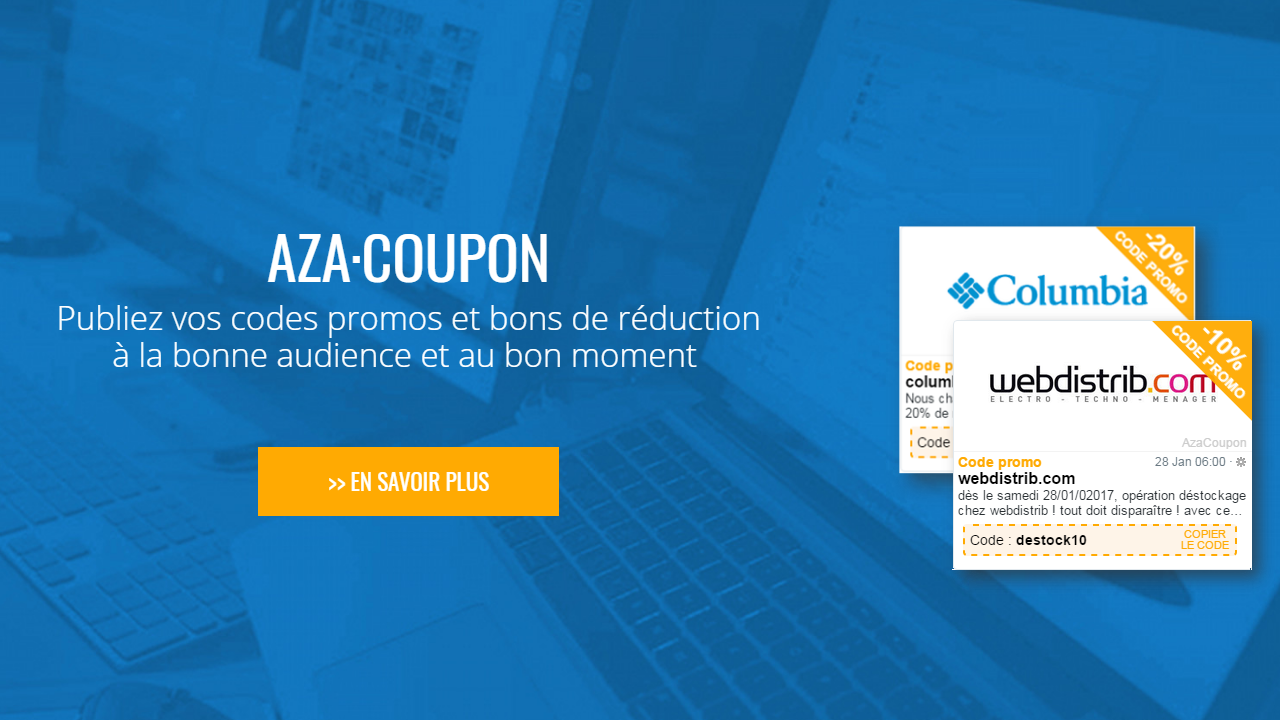 AZA Coupon: Publish your promotion codes and coupons to the right audience at the right time