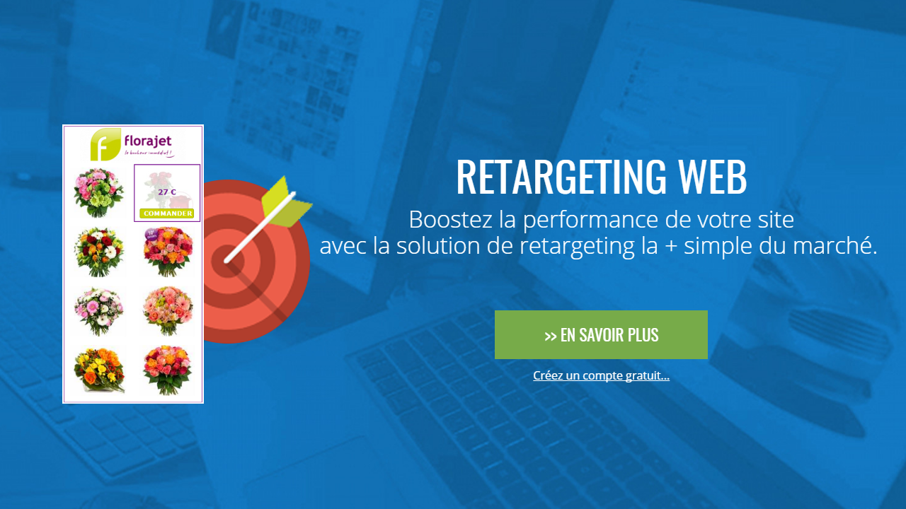 Aza Web retarget: Boost the performance of your website with the solution of the retargeting + single market.