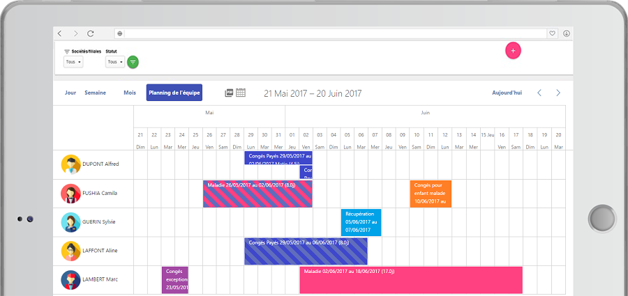 Software Planning leave and absences