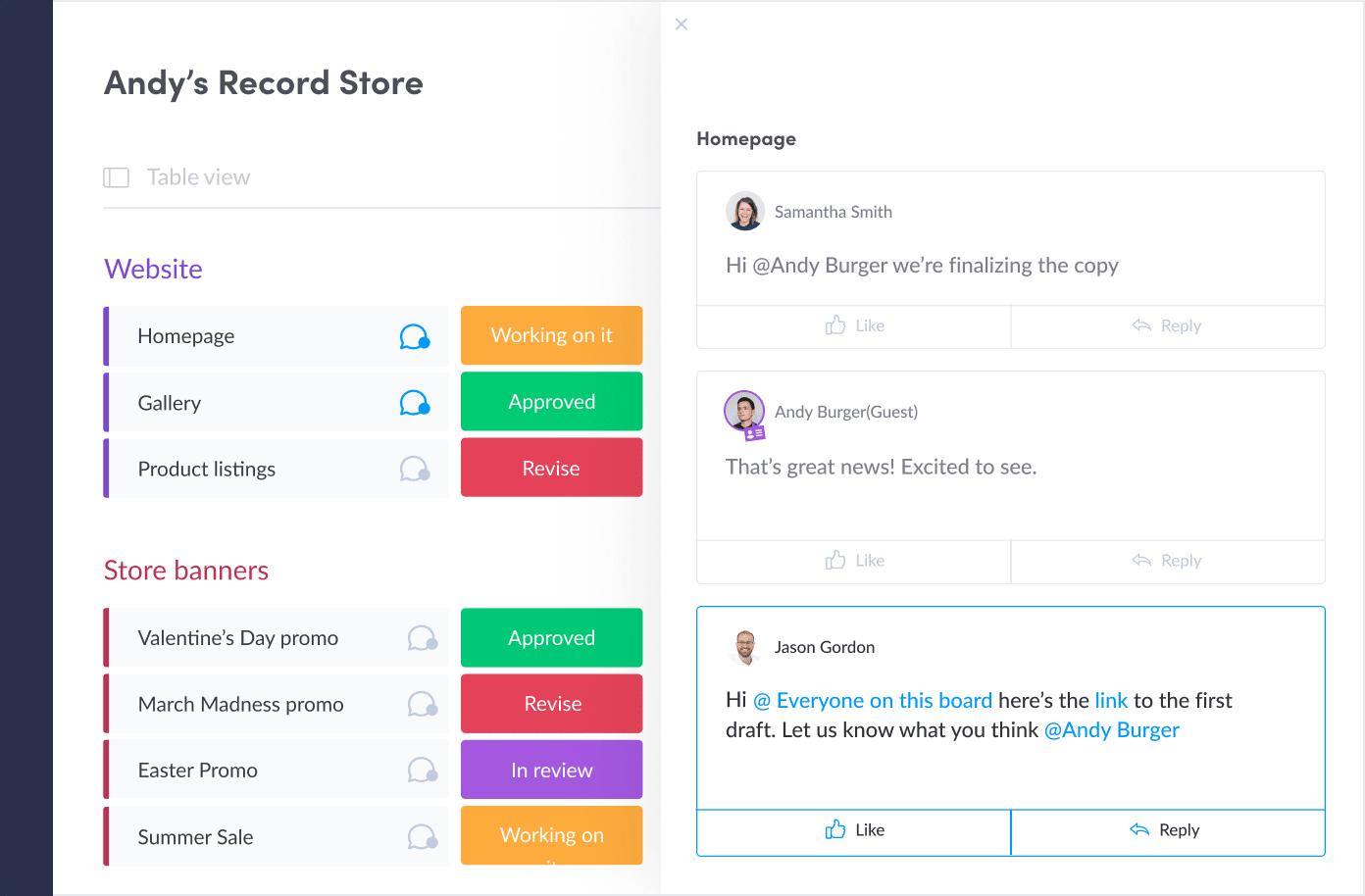 monday.com-Client's project
