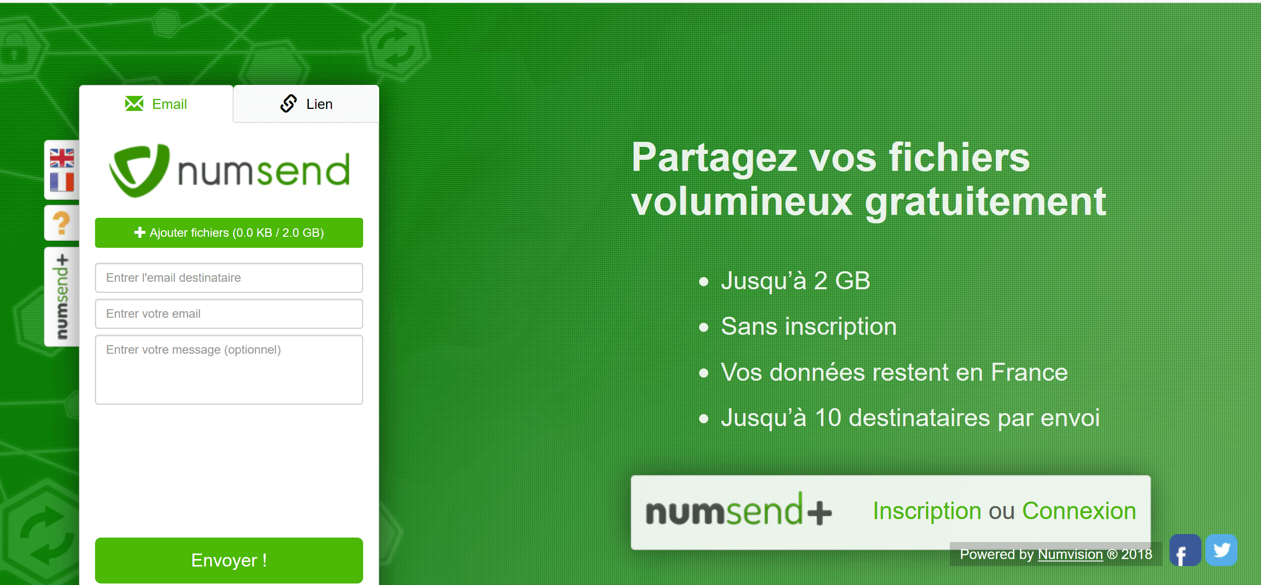 Review NumSend: Solution for sending heavy files - Appvizer