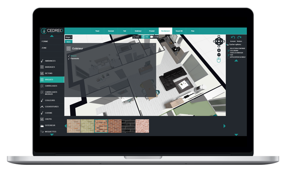 Design the interior and exterior of your home in 3D