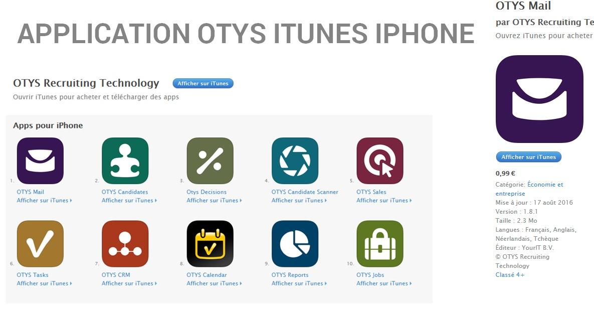 OTYS Recruiting Technology-Iphone