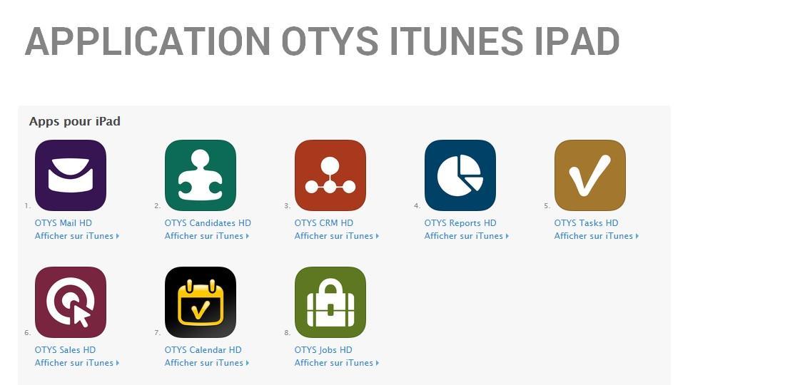 OTYS Recruiting Technology-IPAD