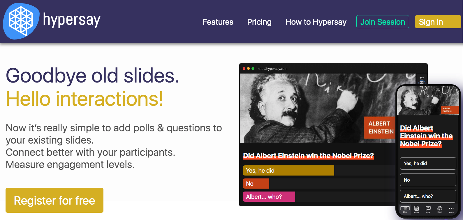 Review Hypersay Education: Goodbye old slides. Hello interactions! - Appvizer