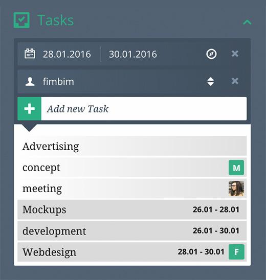 Adding and scheduling new tasks