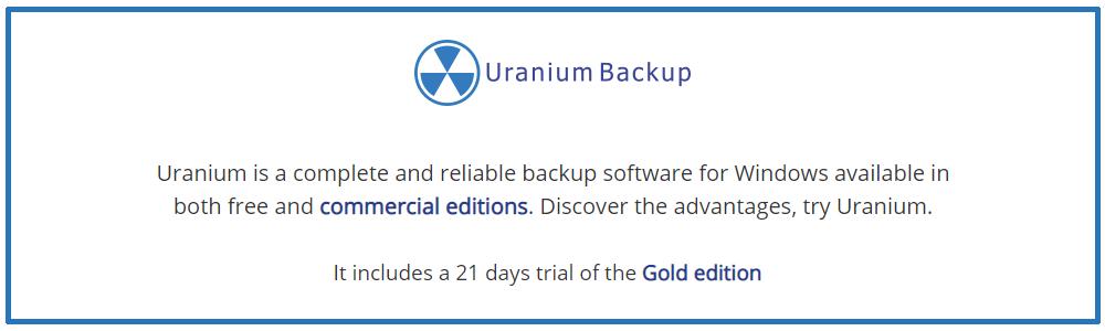 Review Uranium Backup Free Backup Software Compatible With Windows Server Appvizer