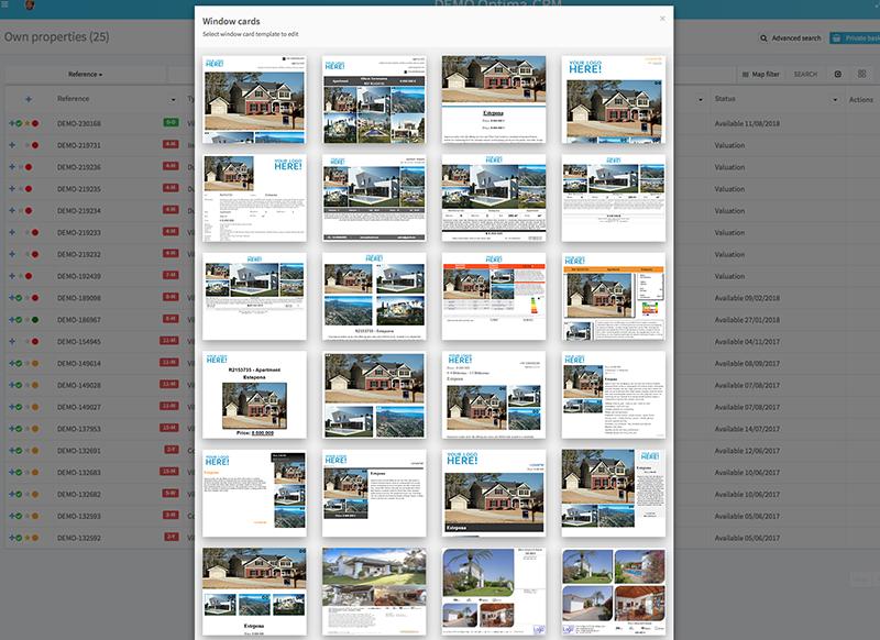 PDFs y escaparates galore: el usuario puede crear cualquier diseño.