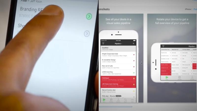 PipeDrive is an online CRM that offers mobile applications