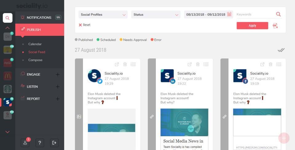 Social Media Publishing Module