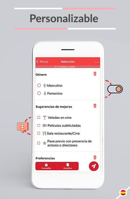 Totalmente personalizable: adapte Kizeo Forms a su empresa.