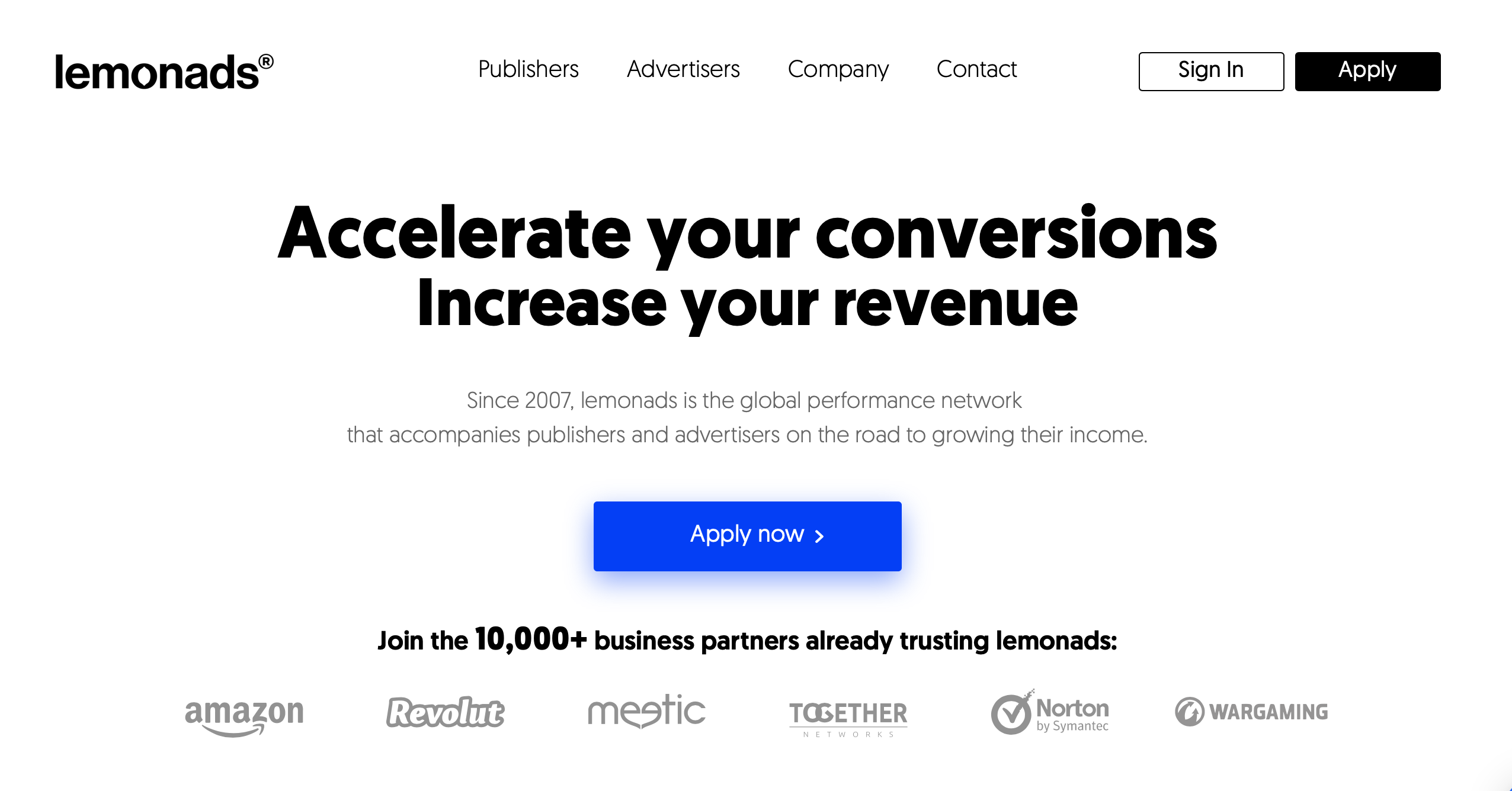 Accelerate your Conversions, Increase your Revenue with lemonads