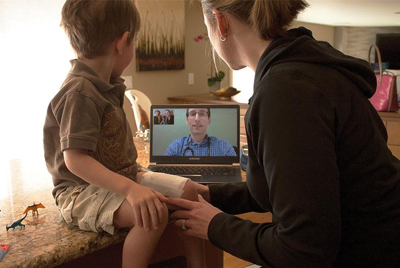 Teleconsultation with a child