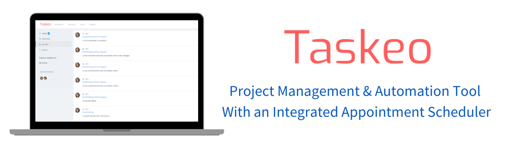 Review Taskeo: Project Management & Automation Tool With an Integrated Appo - appvizer