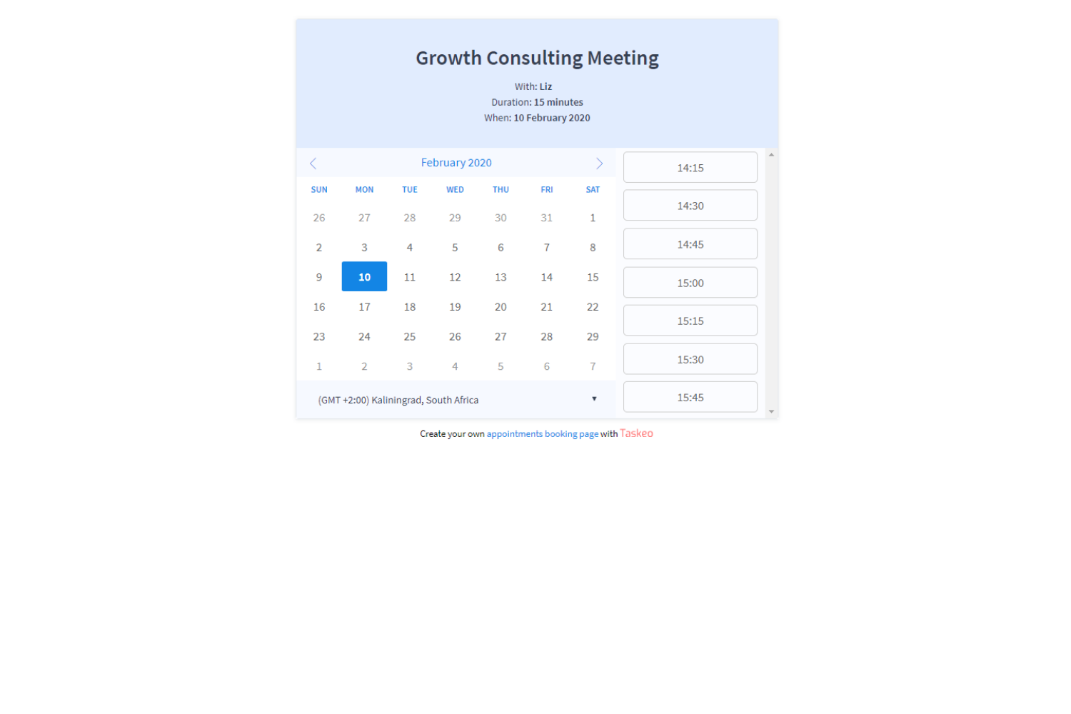 Built-in appointment planner simplifies meeting management