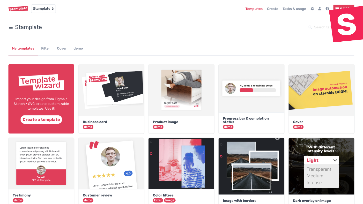 Manage your templates and collaborate with your team
