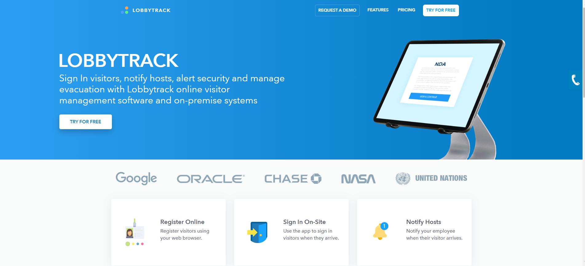 Review Lobbytrack: online visitor management software - appvizer