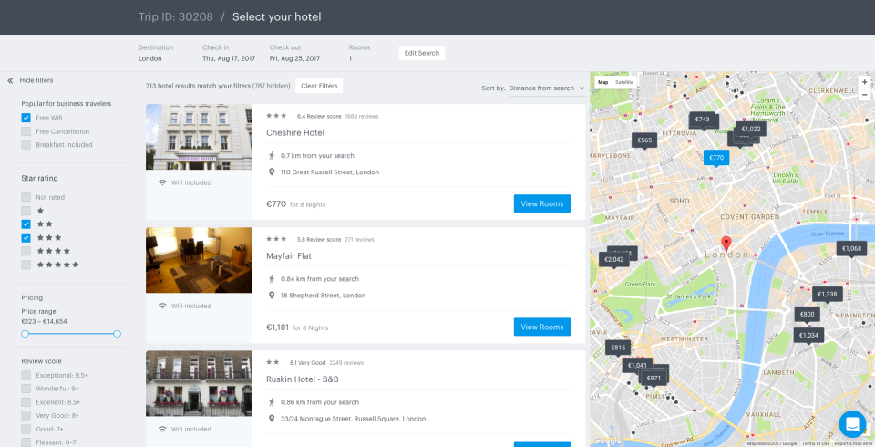 TravelPerk Hotel Booking