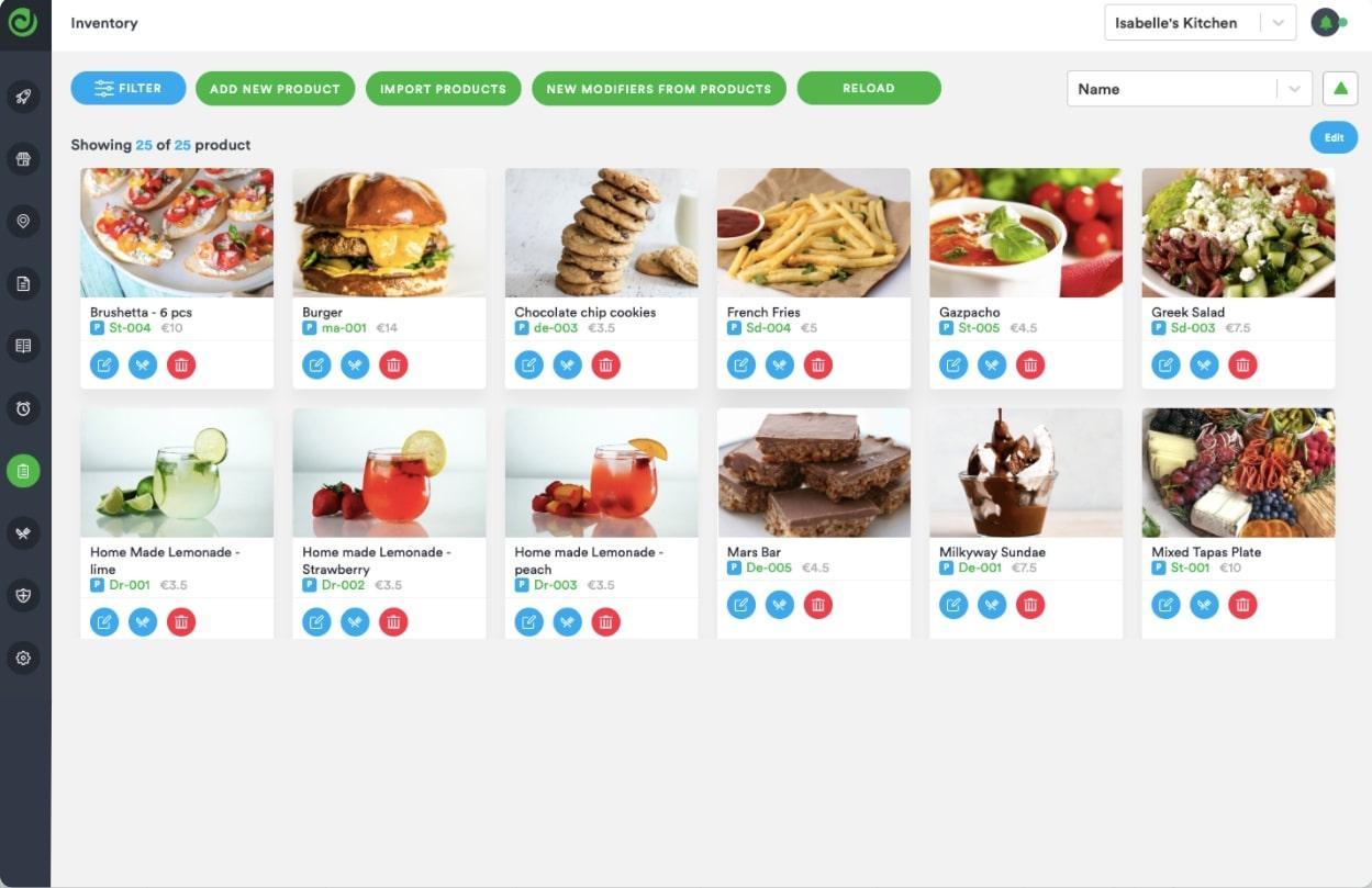 Inventory management via Deliverect