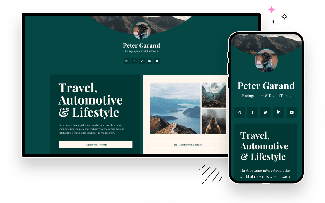 Optimized display for every device. Switch between desktop and mobile views while editing your landing page to ensure it looks amazing on every screen.