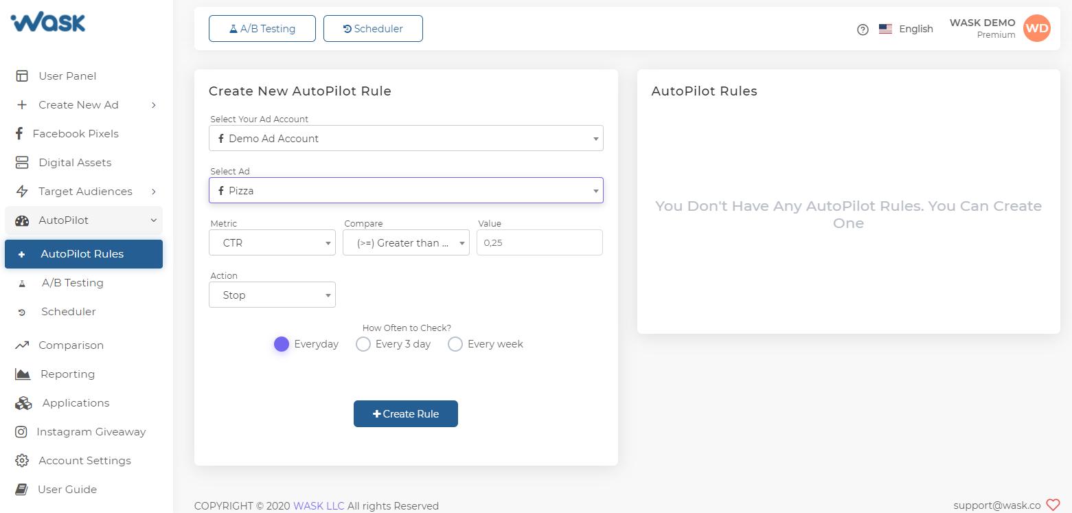 Create AutoPilot Rule