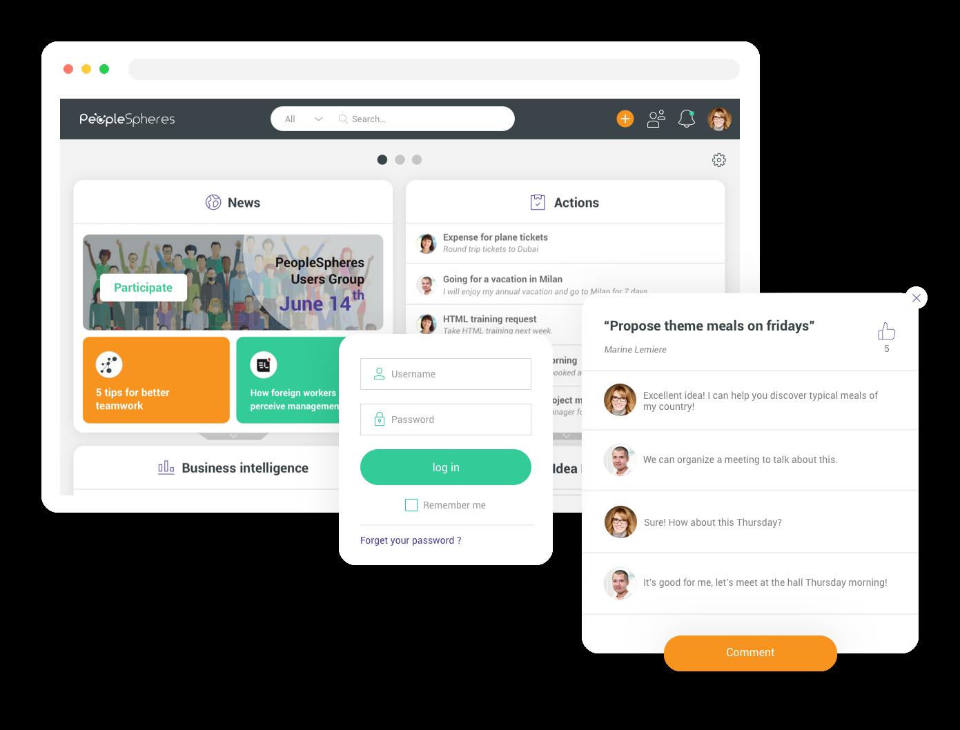 PeopleSpheres - Employee portal
