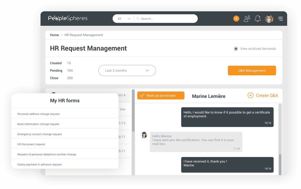 Digitize your HR requests thanks to our Portal