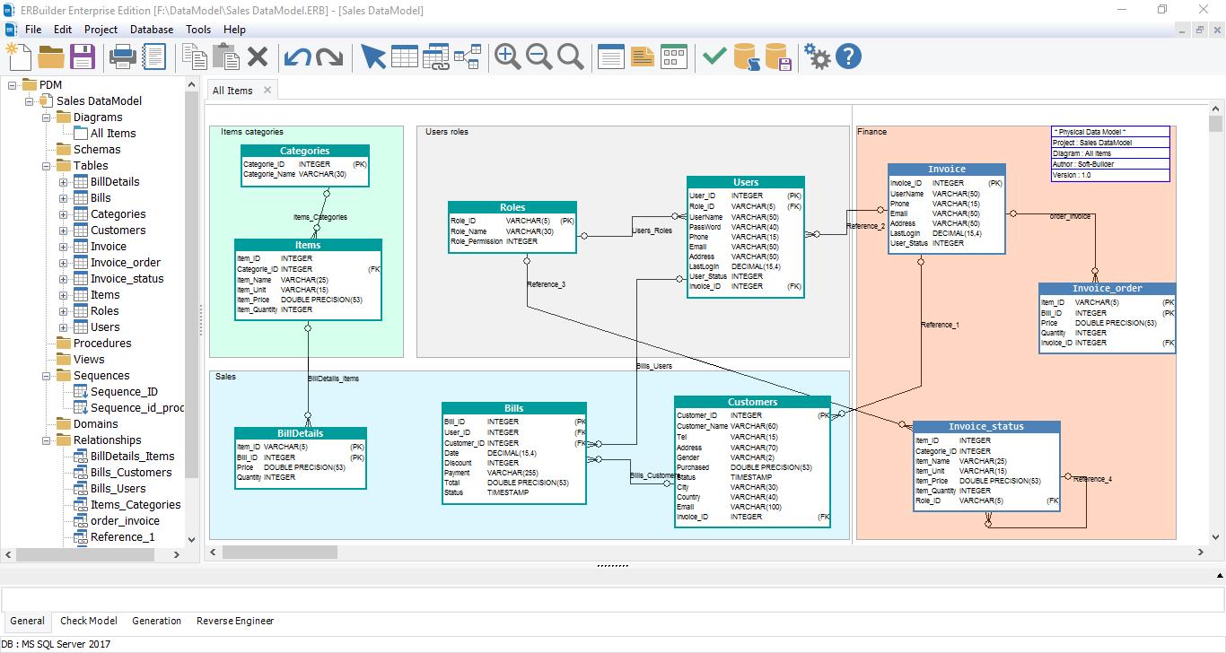 ERBuilder Data Modeler-Feature1- Screenshot-1