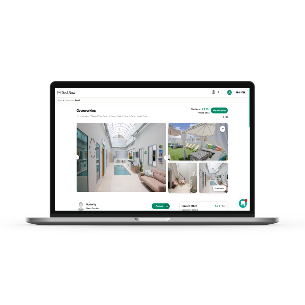 Booking Screen - Web App