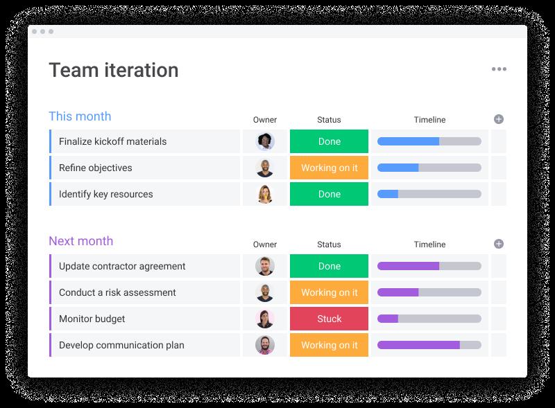 Monday.com HR-Simple board_project management