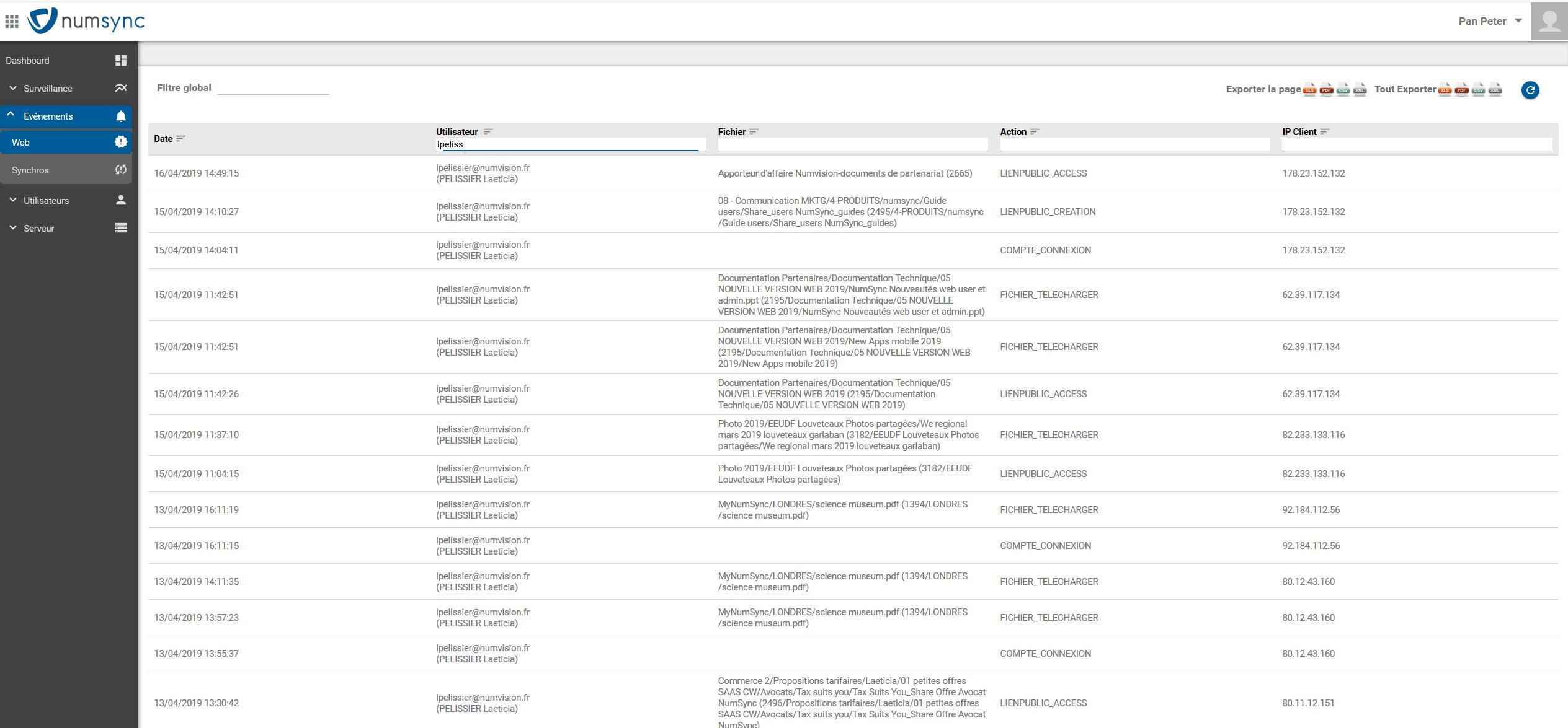 NumSync-console admin webevent-min