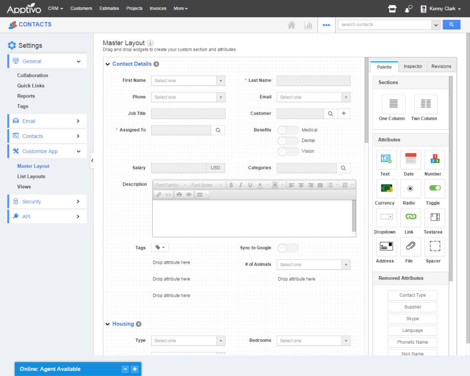 Apptivo CRM-screenshot-1