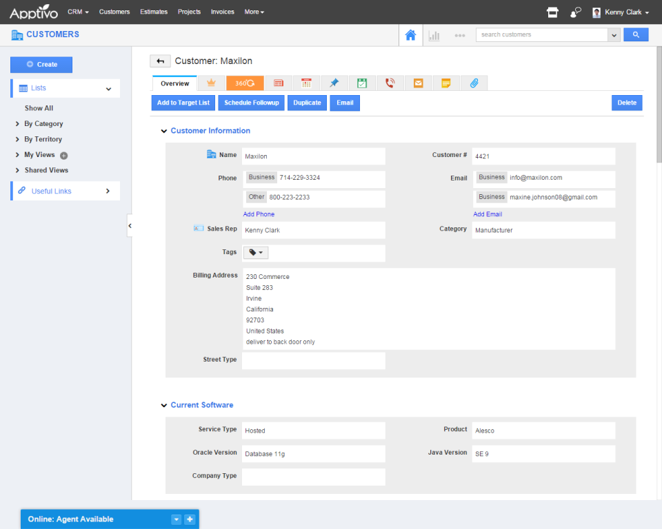 Apptivo CRM-screenshot-2